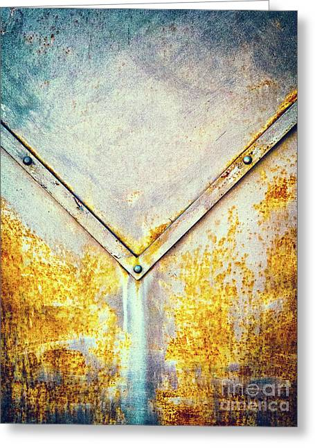 Rusty Gate Detail Greeting Card by Silvia Ganora
