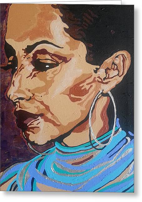 Sade Adu Greeting Card
