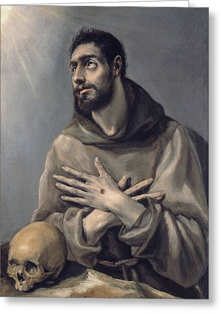 Saint Francis In Ecstasy Greeting Card by El Greco