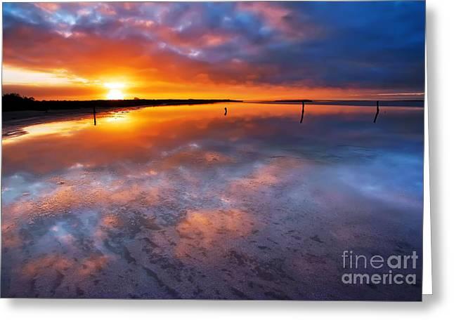 Salt Pan Sunrise Greeting Card by Bill  Robinson