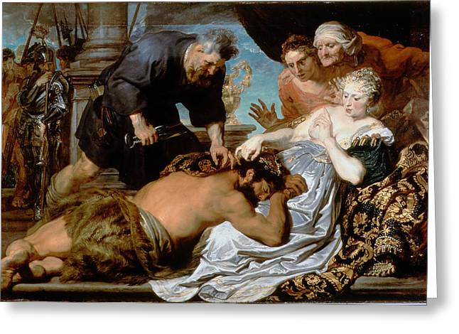 Samson And Delilah Greeting Card by Anthony van Dyck