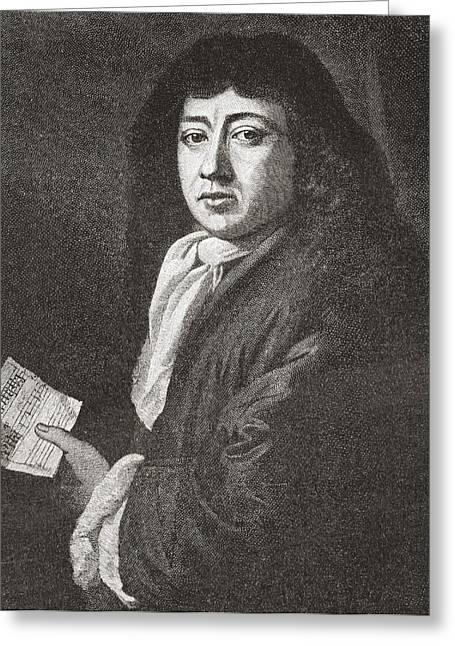 Samuel Pepys, 1633 To 1703. English Greeting Card by Vintage Design Pics