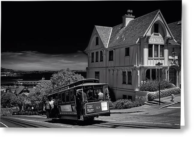 San Francisco Cable Car Greeting Card by Mountain Dreams