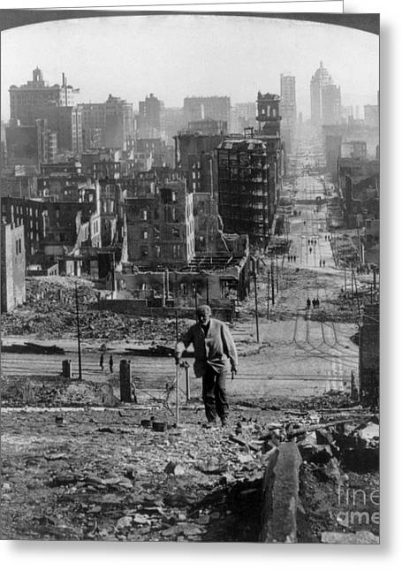 San Francisco Earthquake Greeting Card by Granger