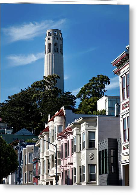 San Francisco's Coit Tower Greeting Card by Mountain Dreams