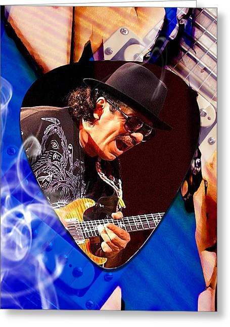 Santana Art Greeting Card by Marvin Blaine