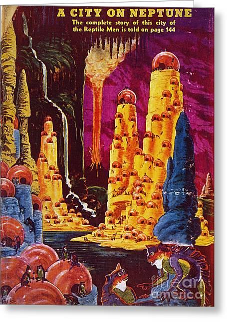 Science Fiction Magazine Greeting Card by Granger