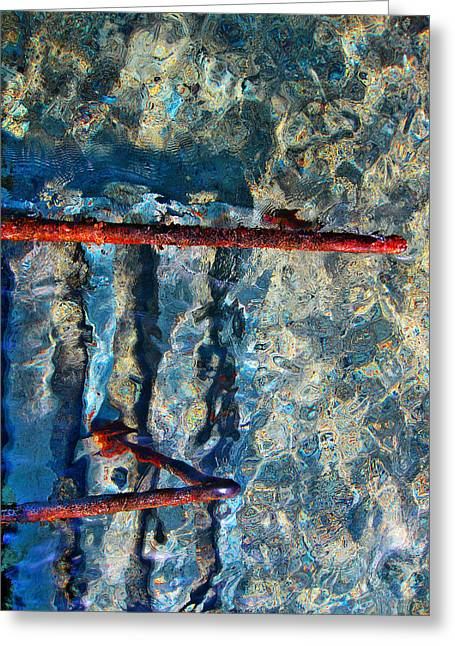 Sea. Rusty Iron And Shock Wave. Greeting Card by Andy Za