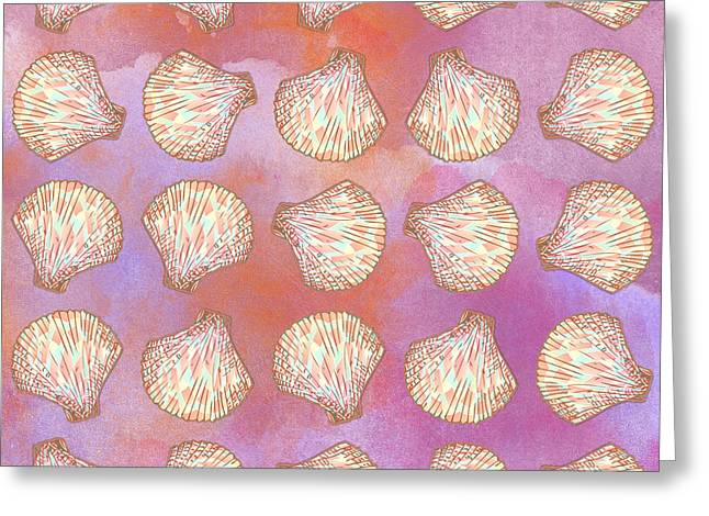 Seashells Pattern Greeting Card by Gaspar Avila