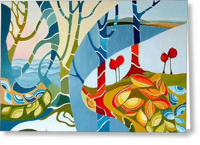Seasons Of Creation Greeting Card by Carola Ann-Margret Forsberg
