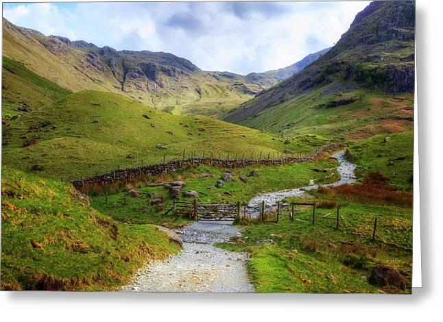 Seathwaith - Lake District Greeting Card by Joana Kruse