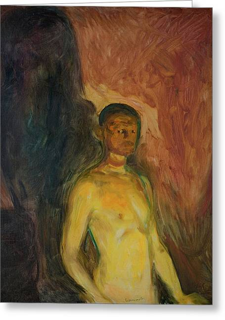Self-portrait In Hell Greeting Card