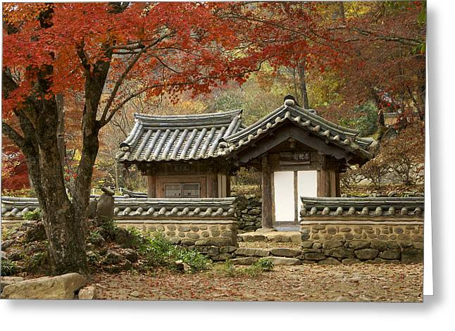 Seonamsa In Autumn Greeting Card