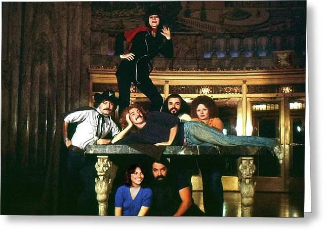 Sgt. Pepper's Cast Members Greeting Card by Howard Dando