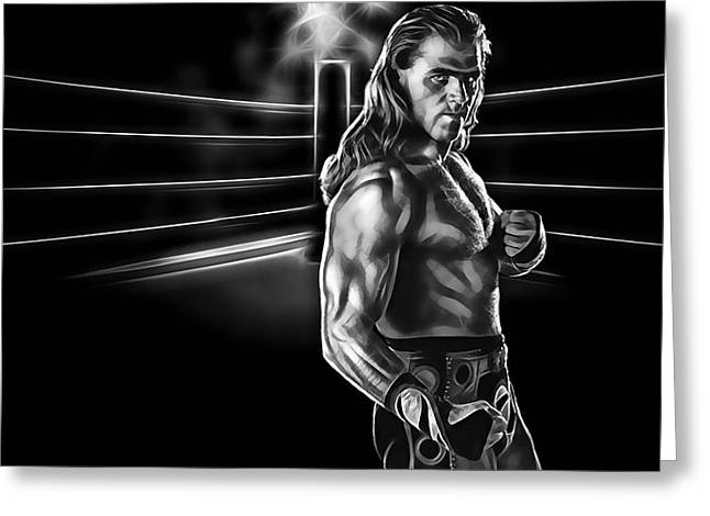 Shawn Michaels Wrestling Collection Greeting Card by Marvin Blaine
