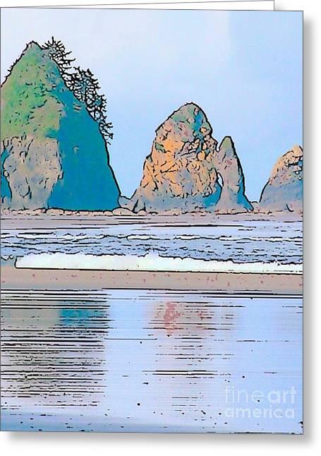 Shi Shi Beach Greeting Card by Lisa Dunn