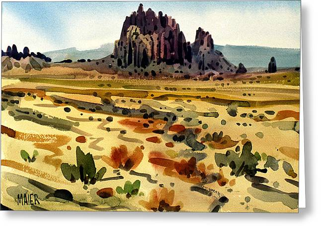 Shiprock Greeting Card by Donald Maier