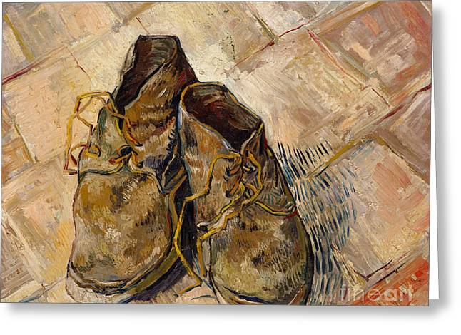 Shoes, 1888 Greeting Card by Vincent Van Gogh