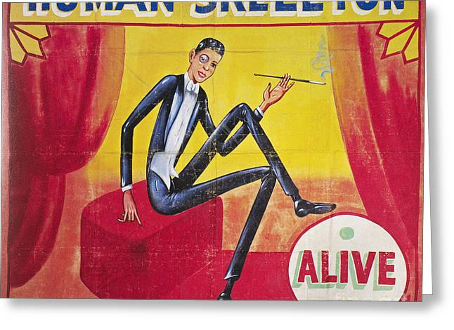 Sideshow Poster, C1965 Greeting Card by Granger