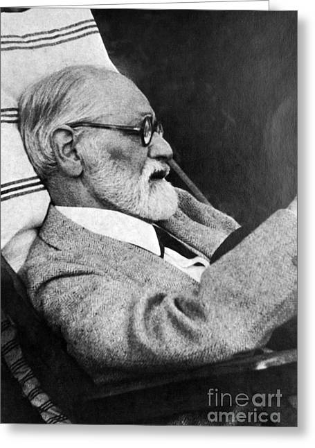 Sigmund Freud, Father Of Psychoanalysis Greeting Card by Science Source