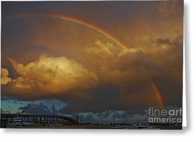 Greeting Card featuring the photograph 2- Singer Island Stormbow by Rainbows