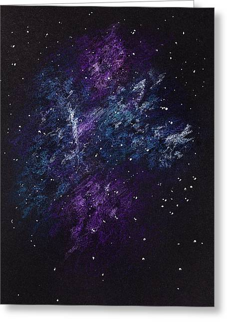 Sketch Of Abstract Design Night Sky Greeting Card by IPolyPhoto Art