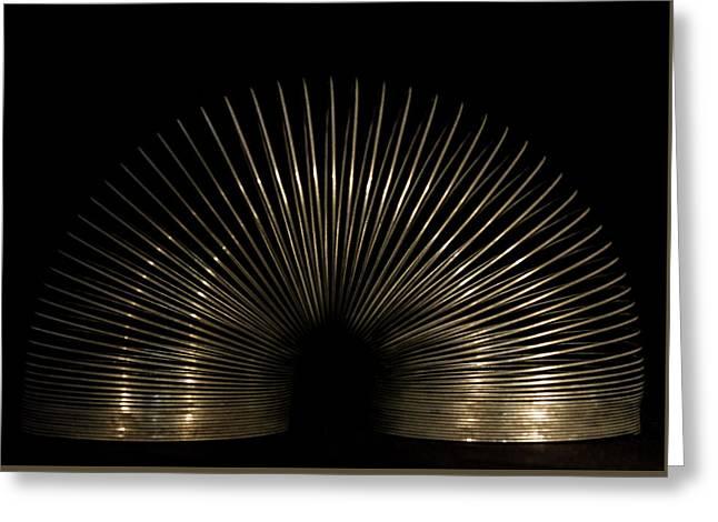 Slinky. Greeting Card