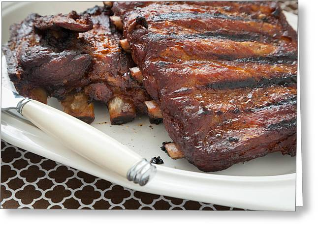 Slow Cooked Pork Ribs Greeting Card
