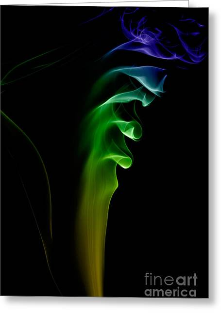 Greeting Card featuring the photograph smoke XXVI by Joerg Lingnau