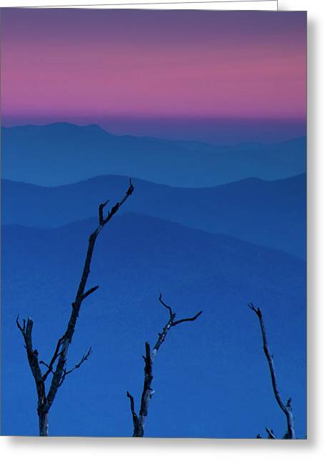 Smokies Sunset Greeting Card by Andrew Soundarajan