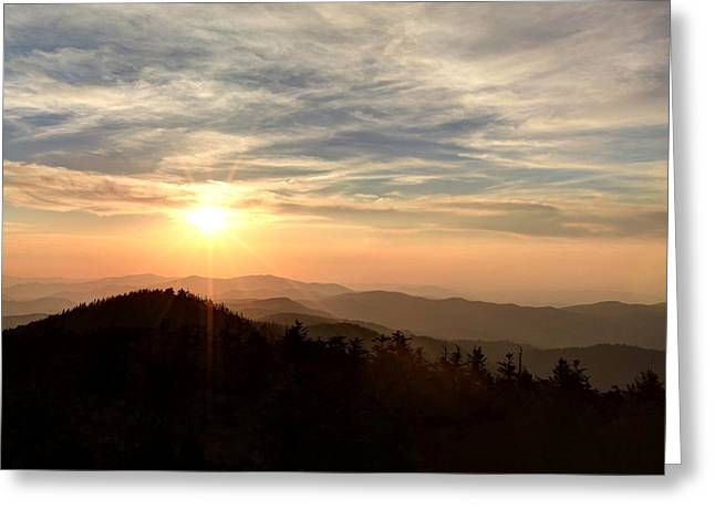 Smoky Mountain Sunset Greeting Card by Doug McPherson