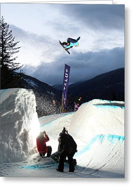 Snowboarder At The Telus Snowboard Festival Whistler 2010 Greeting Card