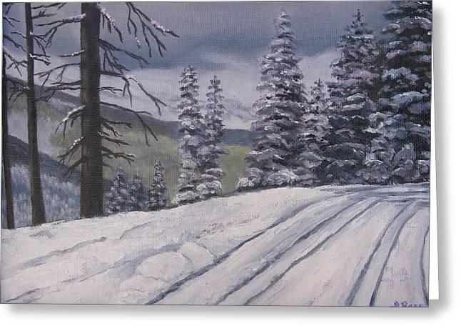 Snowbound Greeting Card by Lisa Barr