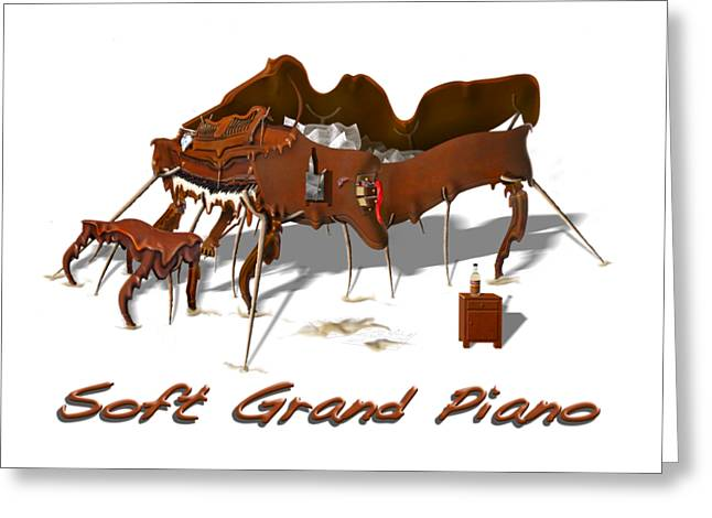 Soft Grand Piano  Greeting Card by Mike McGlothlen