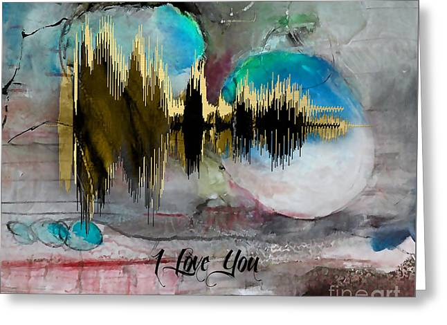 Sound Wave I Love You Greeting Card
