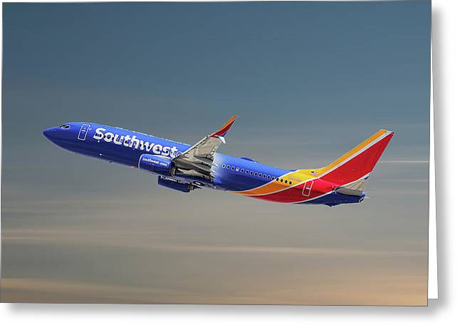 Southwest Airlines Boeing 737-8h4 Greeting Card
