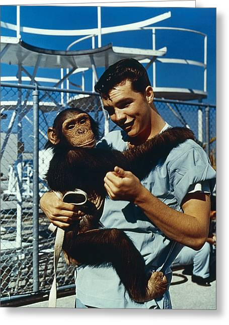 Space: Chimpanzee, 1961 Greeting Card