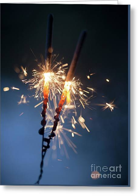 Sparkler Greeting Card by Kati Molin