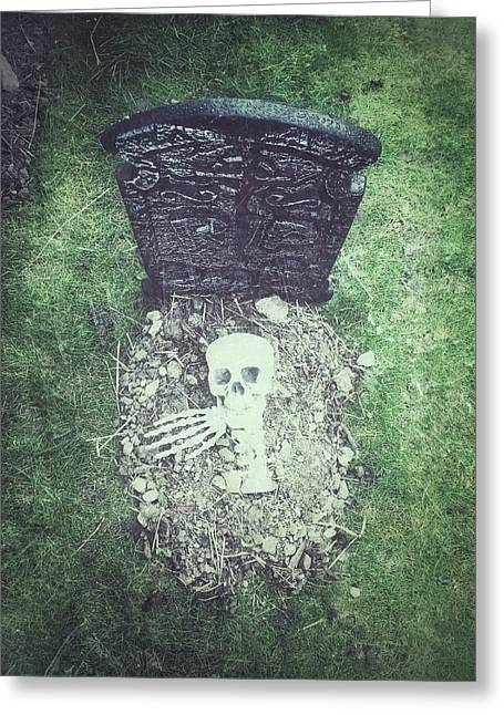 Spooky Grave Stones Greeting Card by Tom Gowanlock