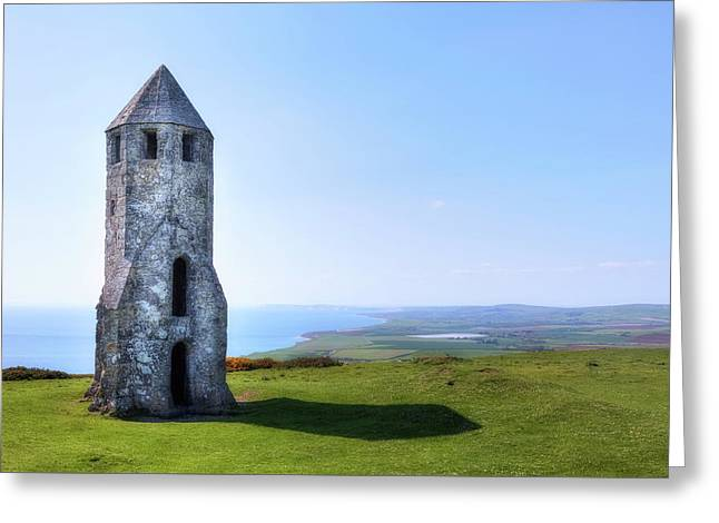 St. Catherine's Oratory -  Isle Of Wight, Greeting Card