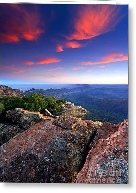 St Mary Peak Sunrise Greeting Card by Bill  Robinson