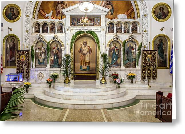 St. Nicholas Greek Orthodox Cathedral,tarpon Springs, Florida Greeting Card by Dawna Moore Photography
