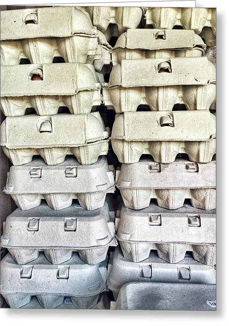 Stacked Egg Boxes Greeting Card