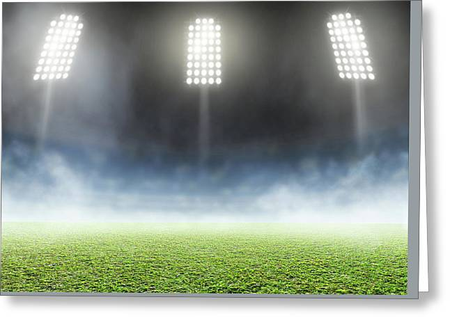 Stadium Outdoor Floodlit Greeting Card