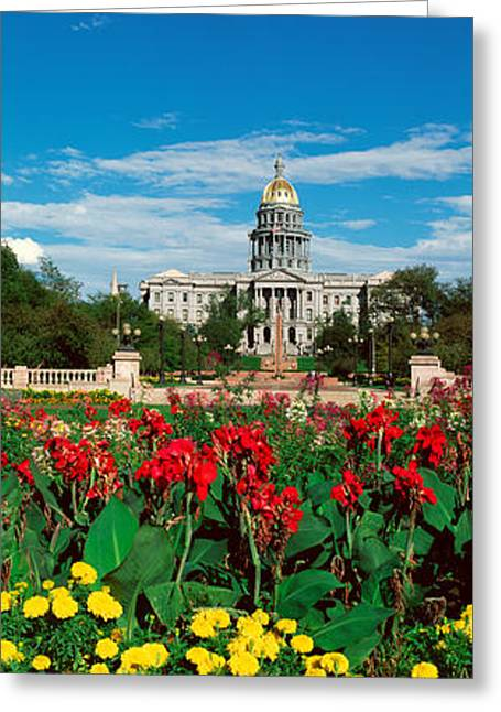 State Capitol Of Colorado, Denver Greeting Card by Panoramic Images