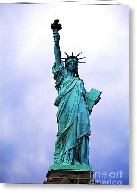 Statue Of Liberty Greeting Card by Sami Sarkis