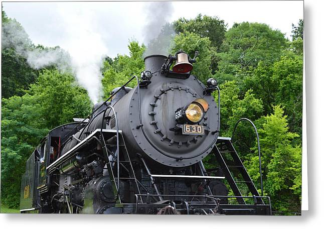 Steam Engline Number 630 Greeting Card