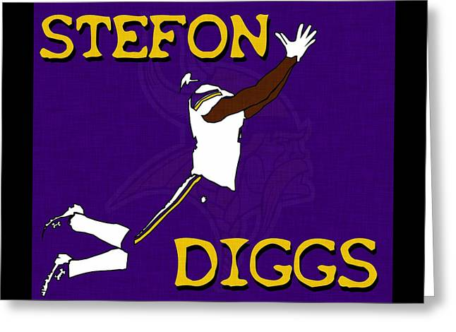 Stefon Diggs Greeting Card by Kyle West