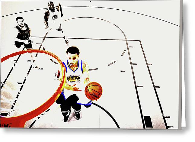 Stephen Curry In Flight Greeting Card