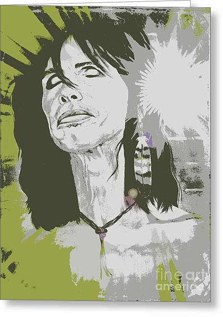 Steven Tyler  Greeting Card by Jeepee Aero